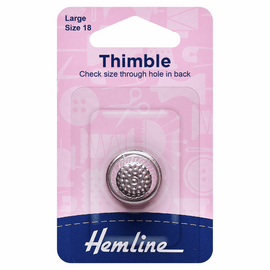 Thimble: Metal: Size 18, Large