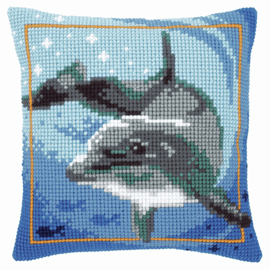 Cross Stitch Kit: Cushion: Dolphin By Vervaco