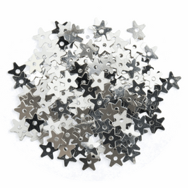 Extra Value: Sequins: Stars: Small: Silver: Pack of 500