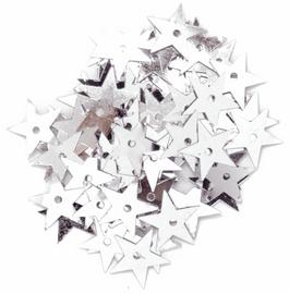 Extra Value: Sequins: Stars: Medium: Silver: Packs of 100