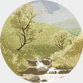 Mountain Stream Cross Stitch Kit by Heritage