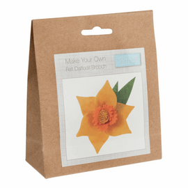 Felt Decoration Kit: Daffodil Brooch