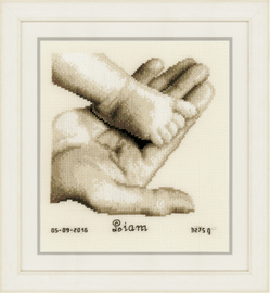 Counted Cross Stitch Kit: Baby Foot on Hand by Vervaco