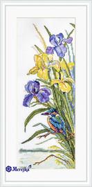 Kingfisher Cross Stitch Kit by Merejka