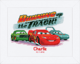 Counted Cross Stitch Kit: Disney: Lightning McQueen By Vervaco
