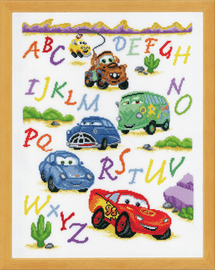 Counted Cross Stitch Kit Disney Cars By Vervaco