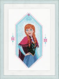 Anna Frozen Cross Stitch Kit by Vervaco