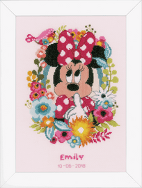Minnie Mouse Shushing Cross Stitch Kit by Vervaco