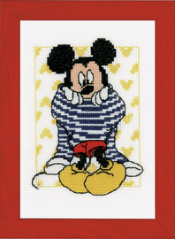 Getting Dressed Mickey Mouse Cross Stitch Kit by Vervaco