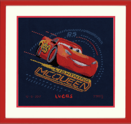 Screeching Tyres Cross Stitch Kit by Vervaco