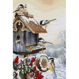 Bird House Cross Stitch Kit by Luca S