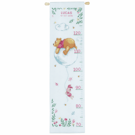 Height Chart Disney Winnie on Balloon Cross Stitch kit by Vervaco