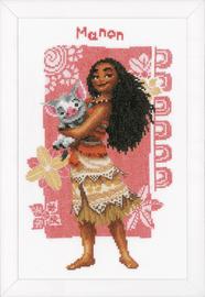 Counted Cross Stitch Kit: Disney: Moana & Pua By Vervaco