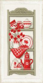 Kitchen Shelves Cross Stitch Kit by Vervaco