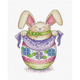 Rabbit cross stitch kit by Mp Studia