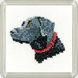 Black Labrador Coaster Kit  By Heritage Crafts