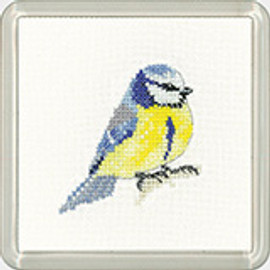 Blue Tit Coaster Kit By Heritage Crafts