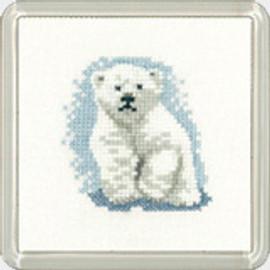 Polar Bear Cub Coaster Kit By Heritage Crafts