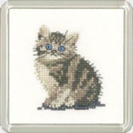 Tabby Kitten Coaster Kit By Heritage Crafts