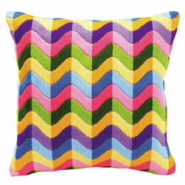 Long Stitch Cushion Kit: Bold Geometric Style 2 By Vervaco