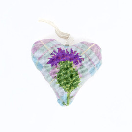Tartan Thistle Heart Cushion Kit by Cleopatra