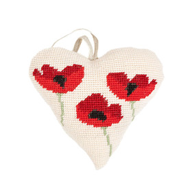 Poppies Lavender Heart Tapestry Kit By Cleopatra