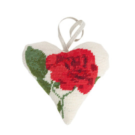 Roses Lavender Heart Tapestry Kit by Cleopatra