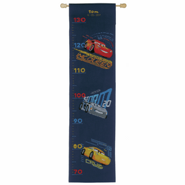 Counted Cross Stitch Kit: Height Chart: Disney: Cars - Screeching Tyres By Vervaco
