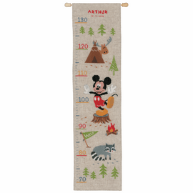 Counted Cross Stitch Kit: Disney: Height Chart: A Woodsy Adventure By Vervaco