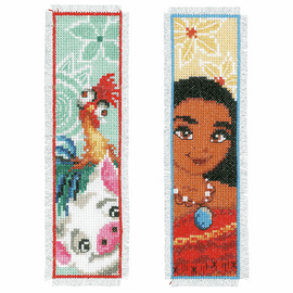 Counted Cross Stitch Kit: Bookmarks: Disney: Moana: (Set of 2) By Vervaco