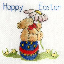 Easter Teddy Cross Stitch Kit by Bothy Threads