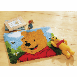 Latch Hook Kit: Rug: Disney: Winnie The Pooh