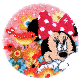 Latch Hook Kit: Shaped Rug: Disney: Minnie: Psst I've a Secret