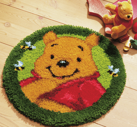 Latch Hook Kit: Shaped Rug: Disney: Winnie The Pooh