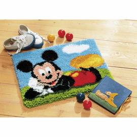 Latch Hook Kit: Rug: Disney: Mickey Mouse