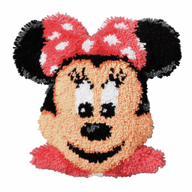 Latch Hook Kit: Shaped Cushion: Disney: Minnie Mouse By Vervaco