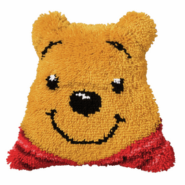 Latch Hook Kit: Shaped Cushion: Disney: Winnie The Pooh By Vervaco