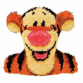 Latch Hook Kit: Shaped Cushion: Disney: Tigger By Vervaco
