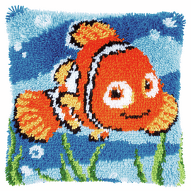 Latch Hook Kit: Cushion: Disney: Nemo By Vervaco