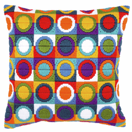 Long Stitch Cushion: Circles By Vervaco