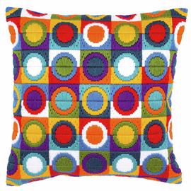 Long Stitch Cushion: Circles By Vervaco