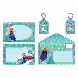 Embroidery Kit: Cards: Disney: Anna and Elsa: Set of 5 By Vervaco