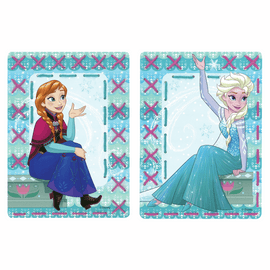 Embroidery Kit: Cards: Disney: Anna and Elsa: Set of 2 By Vervaco