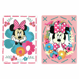 Embroidery Kit: Cards: Disney: Minnie - Daydreaming: Set of 2 By Vervaco