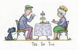 Tea for Two Cross Stitch Kit by Heritage