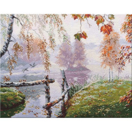 The Breath of Autumn Cross stitch Kit by Oven