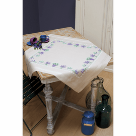 Counted Cross Stitch Kit: Tablecloth: Lavender By Vervaco