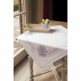 Embroidery Kit: Tablecloth: Lavender By Vervaco