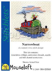 Narrowboat Cross Stitch Kit by Mouseloft