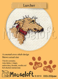Lurcher Cross Stitch Kit by Mouseloft